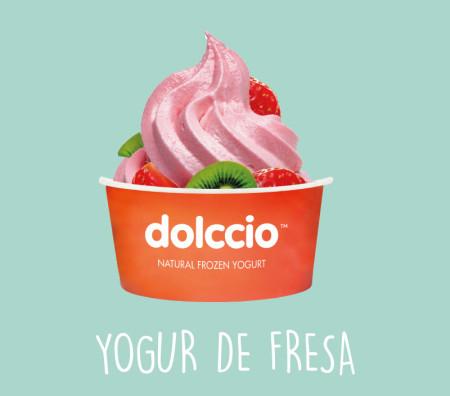 Yogur helado de fresa