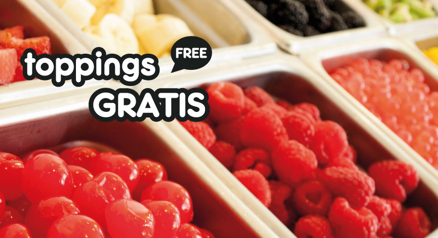 toppings gratis Dolccio